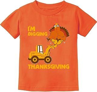 Camiseta infantil I'm Digging Thanksgiving Cute Turkey Tractor