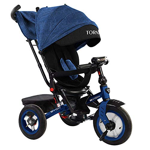 Byox Tricycle Dreirad Tornado Luftreifen Sitz drehbar Musikfunktion, Beleuchtung, Farbe:blau