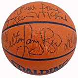 1985-86 Boston Celtics NBA Champions Multi Signed Autographed NBA Game Basketball With 7 Signatures Including Larry Bird & Dennis Johnson Beckett BAS #A34725