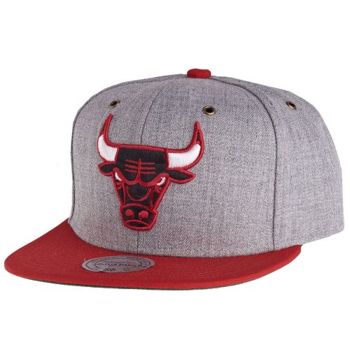 Mitchell & Ness - Casquette Strapback Homme Chicago Bulls Vintage Heather Grey Wool