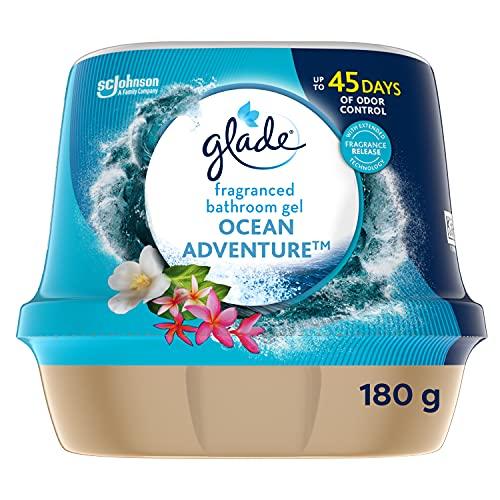 Glade Fragranced Bathroom Gel, Bathroom Air Freshener & Discreet Odour...
