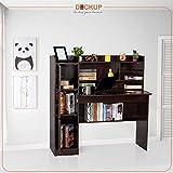 Deckup Versa Office Table and Study Desk (Dark Wenge, Matte Finish)
