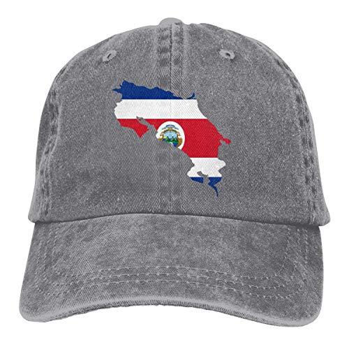 Hoswee Unisexo Gorras de béisbol/Sombrero, Costa Rica Map...