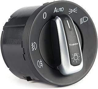 Chrome Black Euro Headlight Head Fog Parking Light Switch Control Car Headlamp Switch