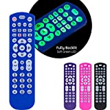 FULLY BACKLIT – Find buttons easily in the dark or dimly lit rooms with the soft green LEDs MULTI DEVICE CONTROL - Operate up to 4 different Audio and video components such as TVs Blu-ray/DVD players cable/satellite receivers Roku boxes and other str...