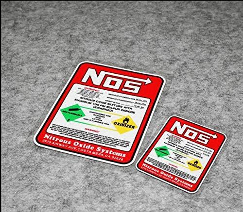 BLOUR Pegatinas de Carreras de Coches Nos, Pegatinas de Sistemas de óxido Nitroso, calcomanía de Vinilo de Carreras de Tuning,Estilo de Coche de Carreras de Motocross para Carreras de Arrastre
