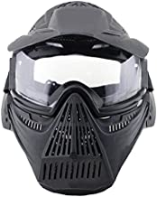 HTUK® Airsoft Pro Clear Mask Protective Mask Military Protection Paintball Halloween Costume
