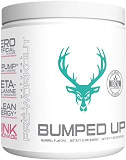 BUMPED UP - Pregnancy Safe Pre Workout - 100% All Natural | Pink Lemonade | Prenatal/Postnatal Safe, Naturally Occurring Ingredients | Pure & Clean - Supplement Powder (30 Servings)