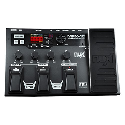 NUX MFX-10 Modeling Guitar Floor Multi-Effects Pedal Processor 55 Models 72 Presets with...