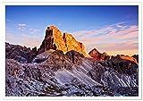 Panorama Poster Croda dei Toni Mountain Dolomites 70 x 50