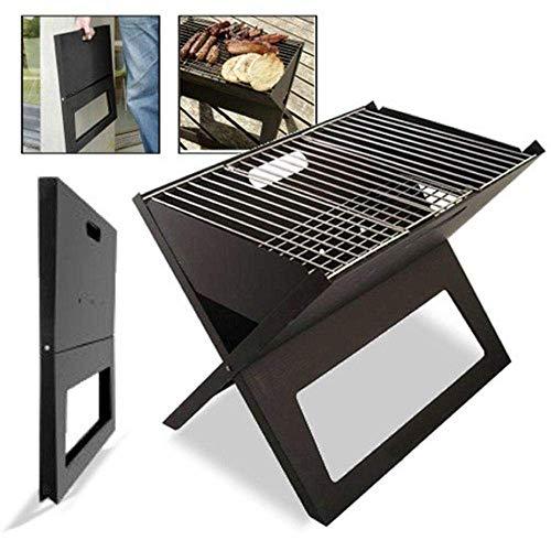 KEWEI Scaffale Porta-fior Regolabile BBQ griglia a Carbone in Acciaio Inox Portatile Barbecue all'aperto Divertente griglia