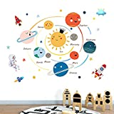 Space Planet Wall Stickers for Kids Room,Baby and Child Room Wall Decals,Cute Wall Decal Decor for Boys Room,Girl Room,Nursery,Playroom,Classroom,School.