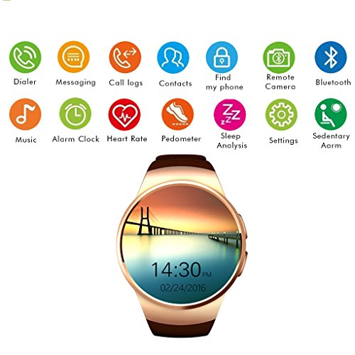 Pinkbenmus - Bluetooth Wireless Smart Bracelet/Aviso Remoto, Reloj Inteligente con Camara Impermeable Anti Perdidos, Detección de frecuencia Cardiaca, Recordatorio del teléfono