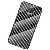 UKDANDANWEI Moto G5S Plus Coque,Etui de Téléphone en Fibre de Carbone et Verre Trempé Transparent...