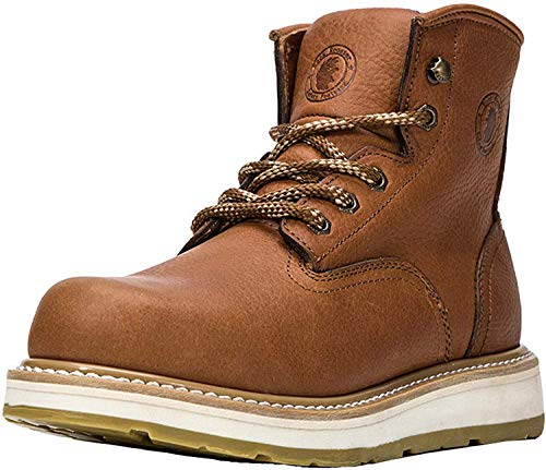 ROCKROOSTER Work Boots for Men, Soft Toe Waterproof Safety Working Shoes (615-11.5)