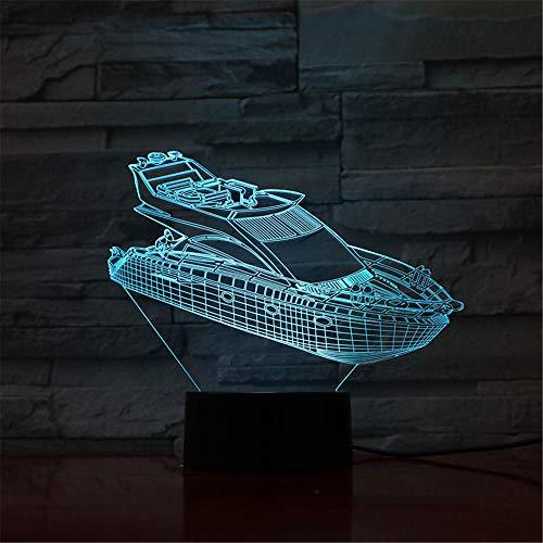 Nachtlicht Yacht Kinder Nachtlicht 3D Optische Täuschung 7 Farben Ändern Beleuchtung Geburtstag Weihnachten Erstaunliche Geschenke für Baby Kinder Mädchen