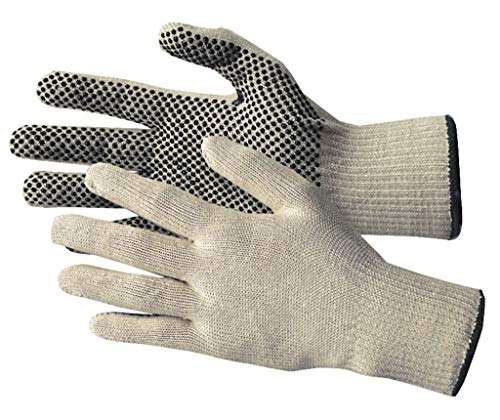 10 Paar Baumwollhandschuhe mit Noppen - Arbeitshandschuhe - einseitig genoppt - Größe 10 (Herren) - Griphandschuh - Lagerhandschuh
