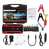 XBJSY 20000mAh High Power Car Starter 12V 4USB Dispositivo De Arranque Portátil Power Bank Cargador De Coche para Automóvil Batería Booster Buster QCDYLZ (Color : Red)