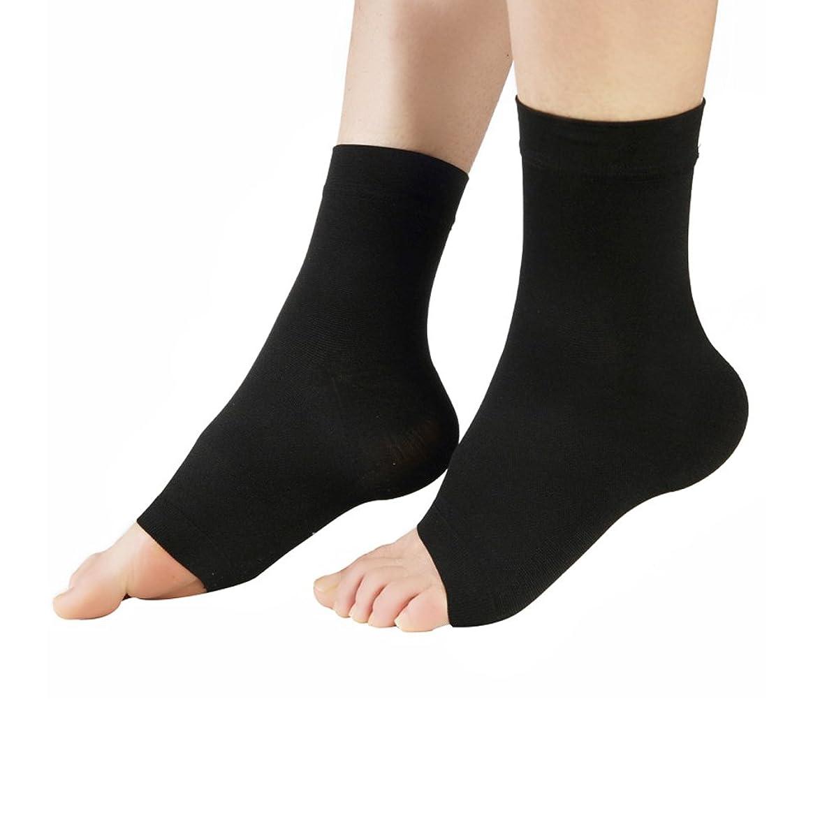 ほのか道方法論MEJORMEN 着圧ソックス ショート靴下 足首を保護?美脚ケア?足の疲れ/むくみ解消 段階式圧力設計(30-40mmHg) 弾性クルーソックス 1足 男女兼用 ブラック?ベージュ S~XXL