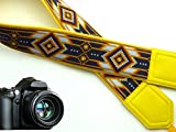 InTePro Camera Strap Insp. by Native American. Yellow, Brown DSLR & SLR Strap. (not Beaded)