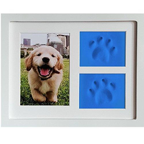 Govine ペット用写真 フォトフレーム 犬 猫などのペットに適用 爪形 お手入れ簡単 犬用メモリアル用品 ホワイト