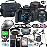 Canon EOS Rebel T7i DSLR Camera Bundle with Canon EF-S 18-55mm STM Lens & Tamron 70-300mm Zoom Lens + 32GB Sandisk Memory + Canon Case + TTL Speedlight Flash (Good Upto 180 Feet) + Accessory Bundle