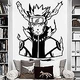 wZUN Vinilo Adhesivos de Pared Naruto Adhesivos de Superficie Sala de Estar Familiar Decoración del Dormitorio Anime Fans 42x51cm
