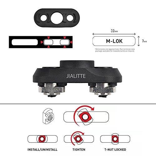 JIALITTE M-lok QD Sling Mount Sling Swivel 1.25 Inch Adapter Attachment for M lok Rail