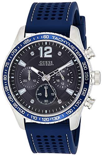 GUESS Reloj Analógico para Hombre de Cuarzo con Correa en Silicona W0971G2