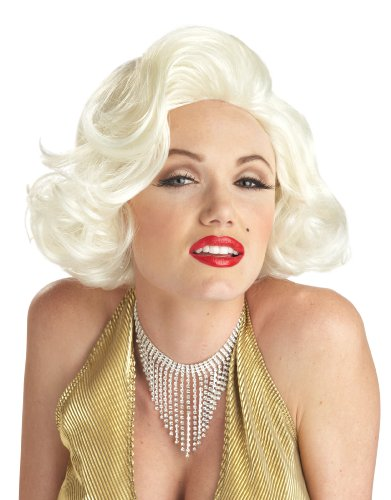 California Costumes Women's Classic Marilyn Monroe Wig, Platinum Blonde, One Size