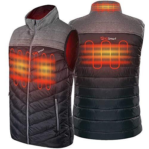 PROSmart Verwarmd Vest voor Heren Lichtgewicht Verwarmd Donsvest Met USB-Batterij