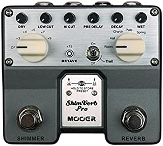 2015 Mooer Shimverb Pro Reverb Ambient Pedal Silver