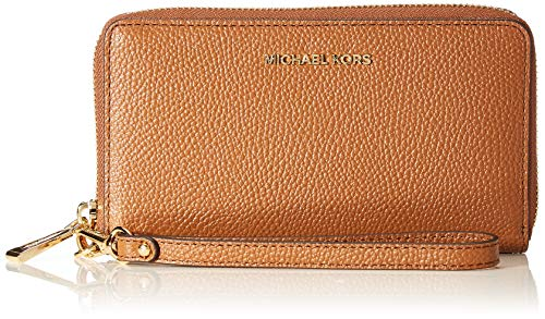 Michael Kors Damen Jet Set LG FLAT MF PHN CASE, Luggage, L