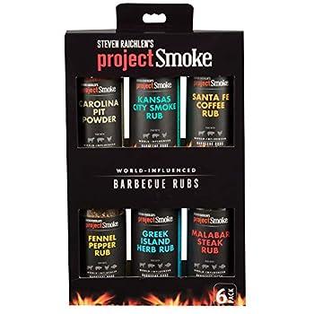 Steven Raichlen s Project Smoke BBQ Spice Rub Seasoning Combo Box - 6 Pack World Wide Barbeque