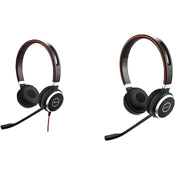 Amazon Com Jabra Evolve 40 Stereo Uc Professional Unified Communicaton Headset Bundle With Jabra Evolve 65 Uc Stereo Wireless Bluetooth Headset Music Headphones Includes Link 360 U S Retail Packaging