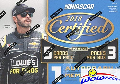 2018 Panini Certified Nascar Racing EXCLUSIVE Factory Sealed Retail Box with AUTOGRAPH or MEMORABILIA Card & ORANGE PARALLEL! Look for Cards & Autos of Dale Earnhardt, Jimmie Johnson & More! WOWZZER!