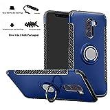 Labanema Xiaomi Pocophone F1 Funda, 360 Rotating Ring Grip Stand Holder Capa TPU + PC Shockproof Anti-rasguños teléfono Caso protección Cáscara Cover para Xiaomi Pocophone F1 - Azul