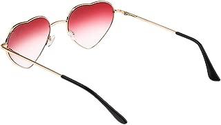 Baosity Women Retro Metal Frame Love Heart Shaped Sunglasses Party Eyewear Eyeglass