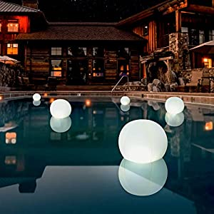 """POP 12"""" Color-Changing Solar LED Ball by 4-Pack 