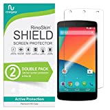 (2-Pack) RinoGear Google Nexus 5 Screen Protector Case Friendly Screen Protector for Google Nexus 5 Accessory Full Coverage Clear Film