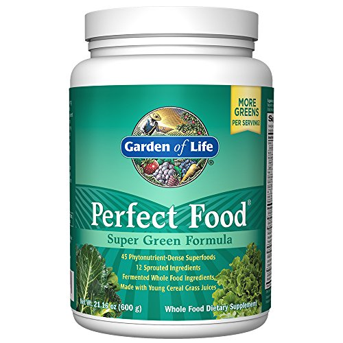 Garden of Life Perfect Food Super Green Formula Powder, Whole Food...