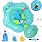 Parner Swimming Baby Float Inflatable Baby Swimming Pool Floats Ring with Safety Bottom Support and Swim Buoy, Great Baby Water Float Suit for Newborn Baby Kid Toddler Age of 6-36 Months, Large
