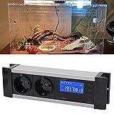 HEEPDD Regolatore di Temperatura, Regolatore di umidità del termostato Digitale con Presa per incubatrice Acquario Scatola rettili Allevamento(220 V 10 A)