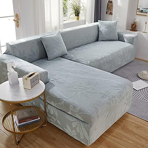 LT&NT Funda De Sofá Estirada De Sofá Slipcover,Jacquard Anti-Slip Sofá Funda para 3 Couch Cojín,Protector De Muebles Lavables con Fondo Elástico-C L