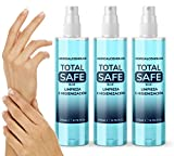 Pack Familiar Total Safe 3 x 200ml Spray | Ideal para una higiene profunda de manos - Hidroalcoholico envase con Aerosol Blue | Hidroalcoholico Liquido