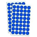 2000 Pack, 3/4' Round Color Coding Dot Sticker Labels - Blue