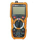 Festnight PM18C Multimètre numérique multifonction True RMS mesurant la tension de courant alternatif/continu Résistance Capacité Fréquence Température Température hFE NCV Testeur de ligne sous