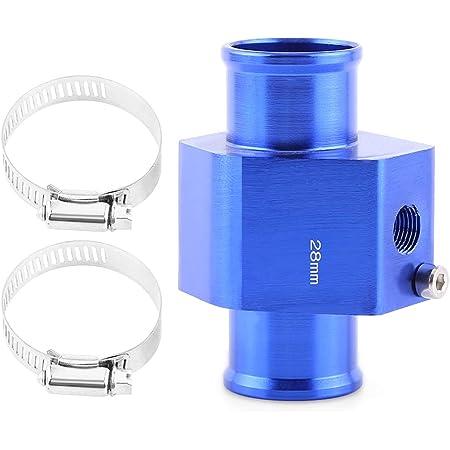 Vgeby Auto Wasser Temp Temperatur Gemeinsame Rohr Sensor Aluminum Kühlerschlauch Adapter 26 40mm Blau Abmessung 40mm Auto