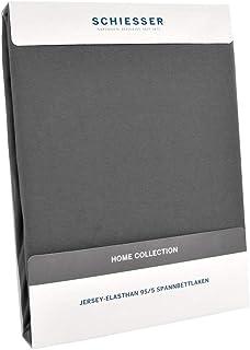 Schiesser Drap-housse de qualité supérieure en jersey élasthanne - 95 % coton peigné, 5 % élasthanne - Convient pour les l...