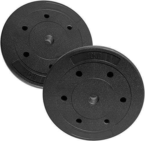 mymixtrendz Standard Weight Plates Weight Plates Set 5kg,10kg 1.25kg,2.5kg, (Choice of Sizes) for 1' Dumbbell Plates Only (5 Kg Pair)